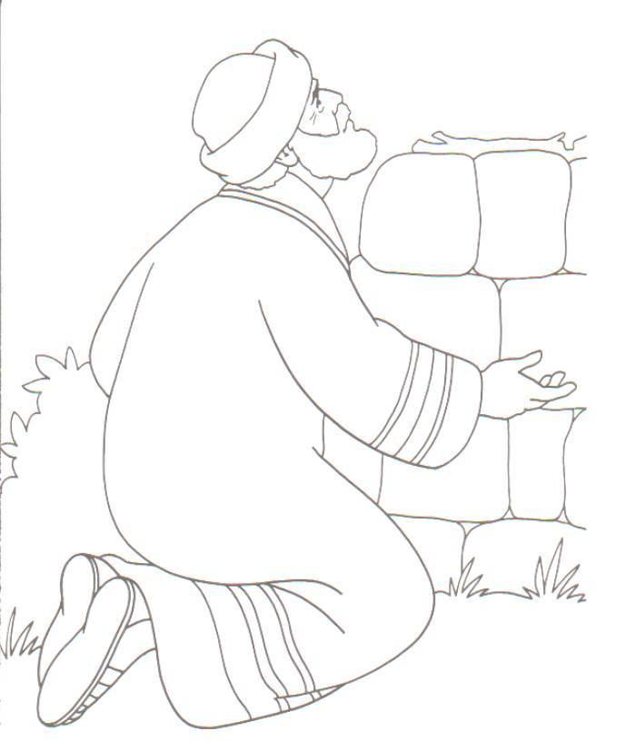 Colorear Abraham orando