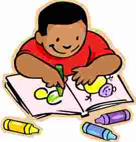 niño coloreando