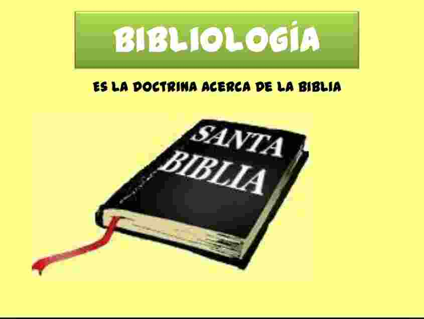 escuela dominical bibliologia doctrina de la Biblia
