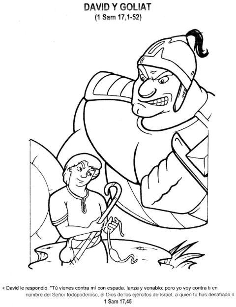 P Colorear David Y Goliat Maestro De Escuela Dominical