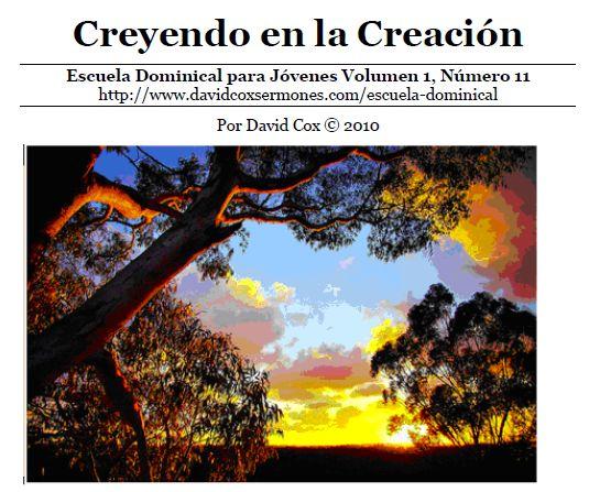 Creyendo en la Creación