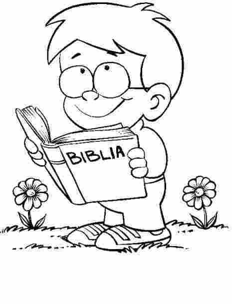 Nino Leyendo Biblia Maestro De Escuela Dominical