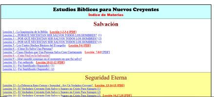 Estudios Bíblicos para Nuevos Creyentes Middletown